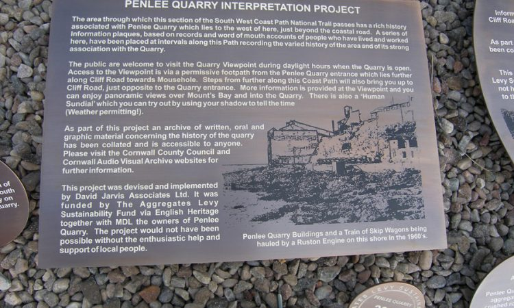 Bronze for Penlee Quarry