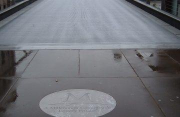 Millennium Bridge Floor Graphics in stainless steel