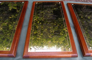 Polished Brass on our Mahogany frames