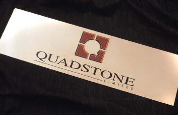 QUADSTONE 900mm x 300 mm 5 colour brass
