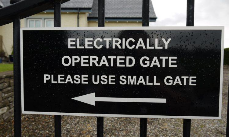 Railing Sign