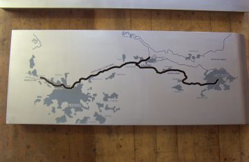 Stainless Steel 1m x 450 mm etched 3 colours