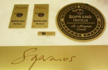 Superb Brass signage system for an Aberdeen Hotel