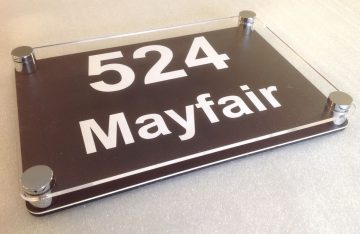 260mmx180mm Perspex Sign