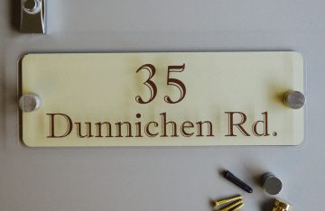 300mmx 100mm Perspex Sign