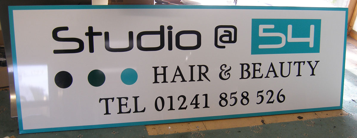 Aluminium Sign with vinyl graphics