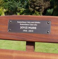 Bench Memorial plaque