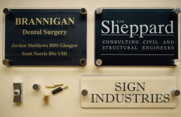 Various Business Perspex Signs