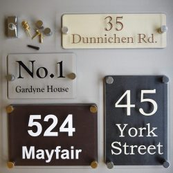 perspex house signs
