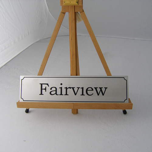 stainless steel house sign