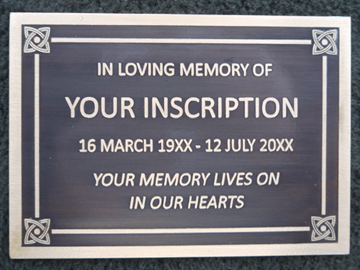 bronze memorial plaque sample fb