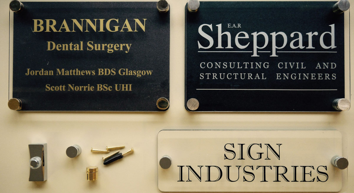 Perspex House & Business Signs